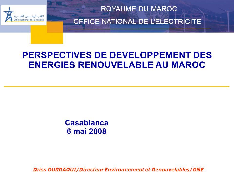 PERSPECTIVES DE DEVELOPPEMENT DES ENERGIES RENOUVELABLE AU MAROC