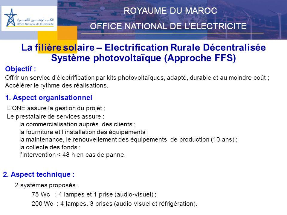 La filière solaire – Electrification Rurale Décentralisée
