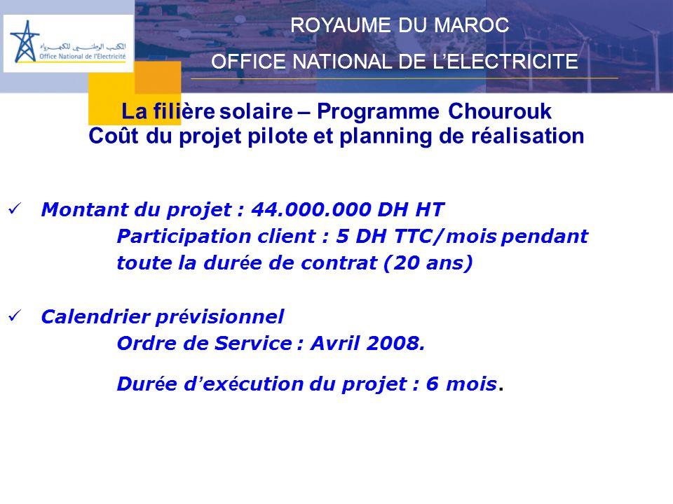 La filière solaire – Programme Chourouk