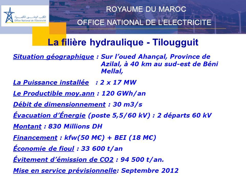 La filière hydraulique - Tilougguit
