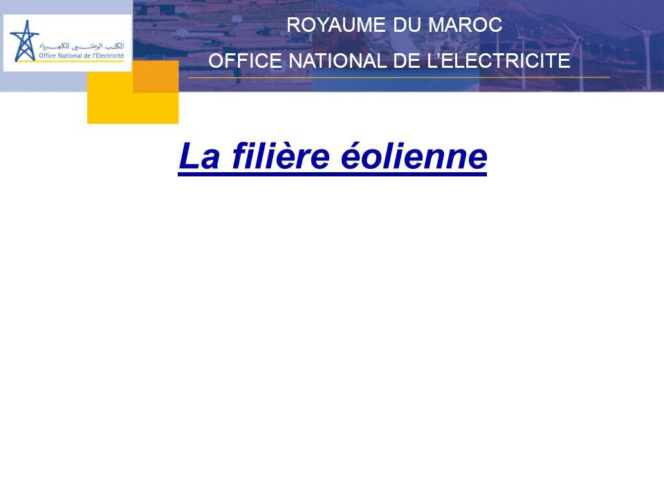 ROYAUME DU MAROC OFFICE NATIONAL DE L'ELECTRICITE La filière éolienne