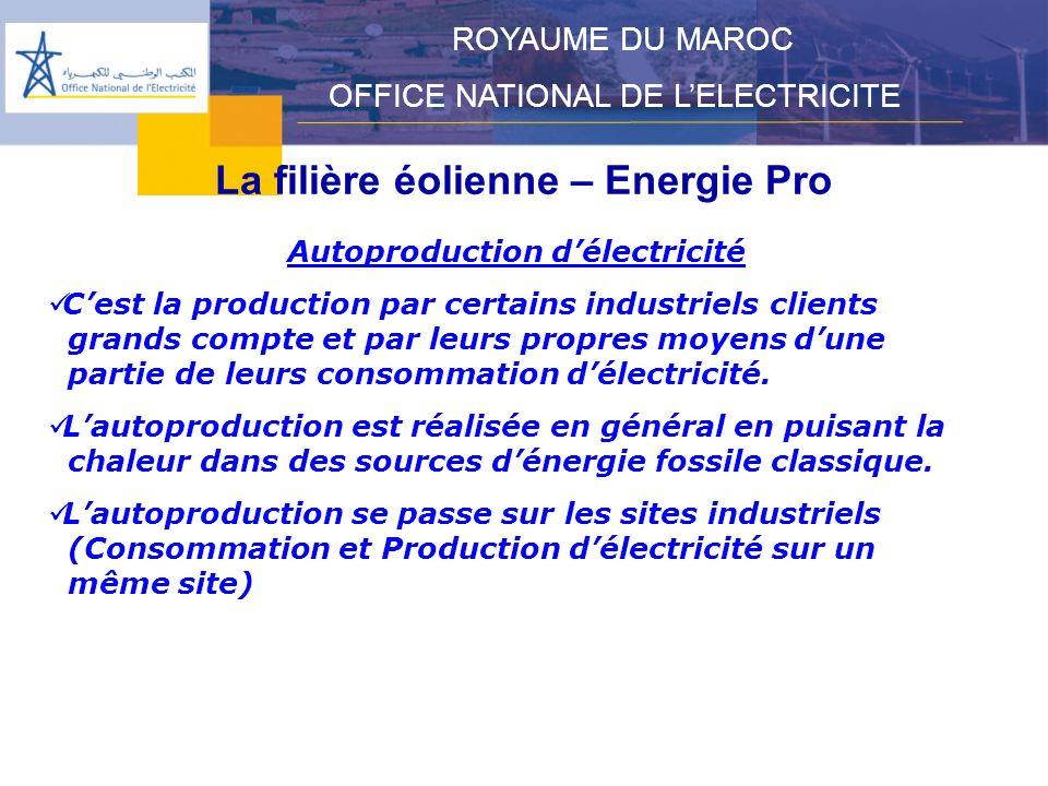 La filière éolienne – Energie Pro Autoproduction d'électricité