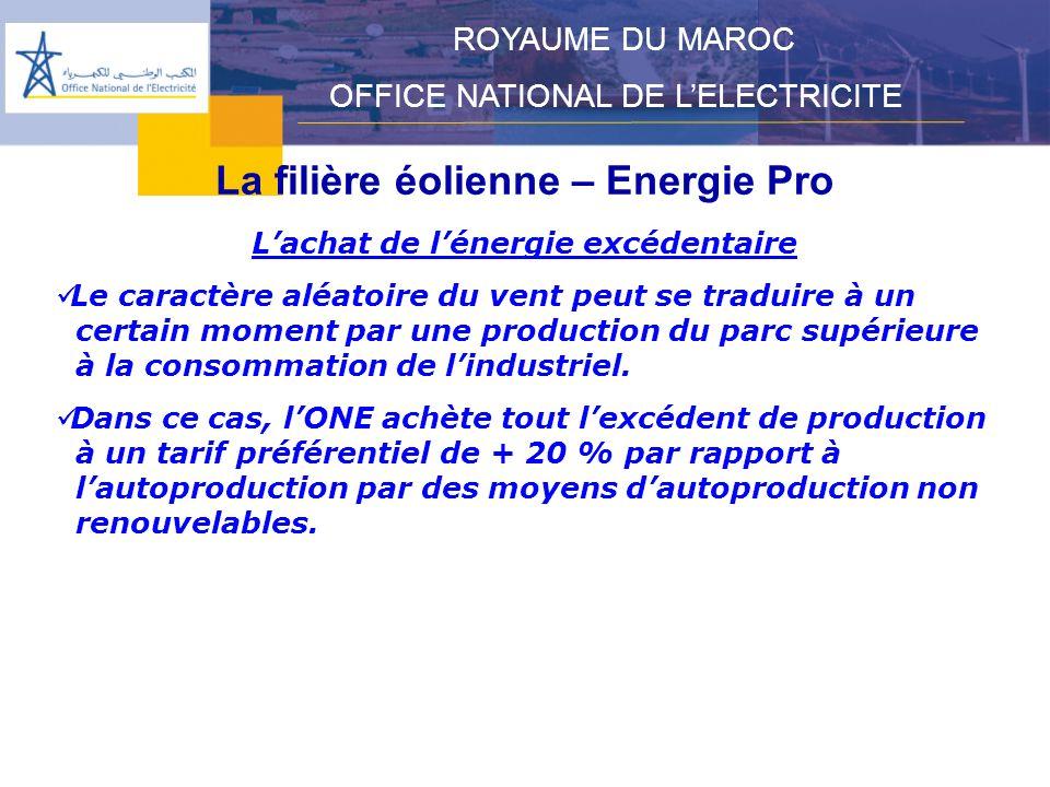 La filière éolienne – Energie Pro L'achat de l'énergie excédentaire