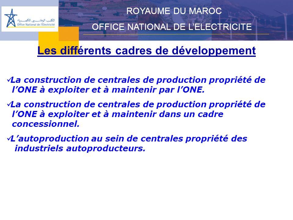 Les différents cadres de développement