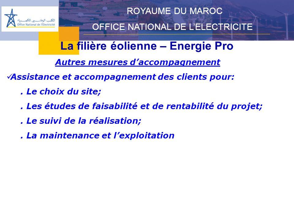 La filière éolienne – Energie Pro Autres mesures d'accompagnement