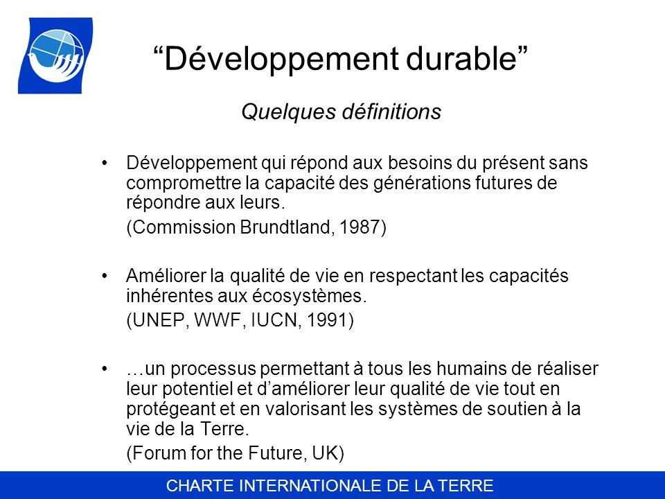 Développement durable Quelques définitions