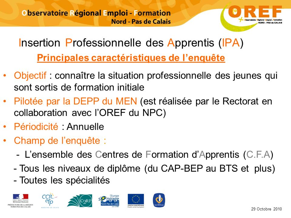 Insertion Professionnelle des Apprentis (IPA)