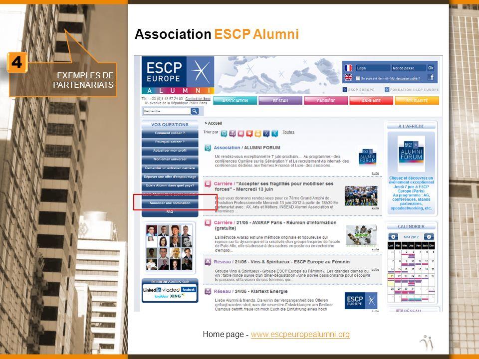 4 Association ESCP Alumni EXEMPLES DE PARTENARIATS