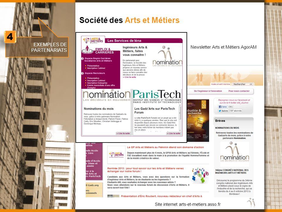 4 Société des Arts et Métiers EXEMPLES DE PARTENARIATS