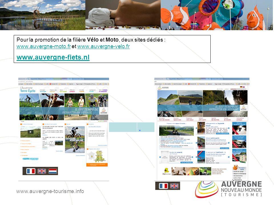 Pour la promotion de la filière Vélo et Moto, deux sites dédiés : www