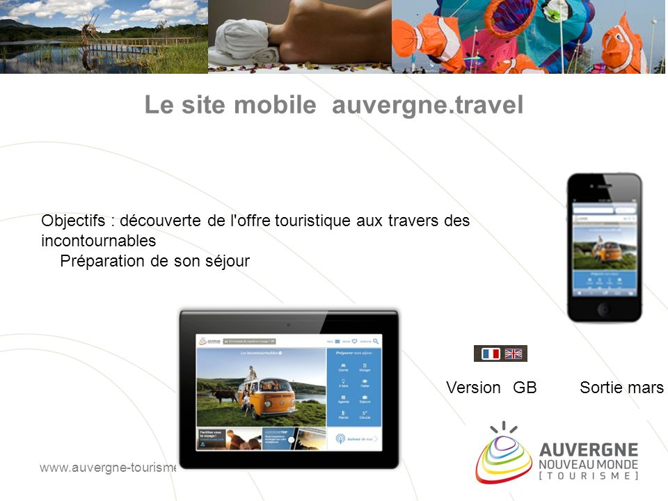Le site mobile auvergne.travel