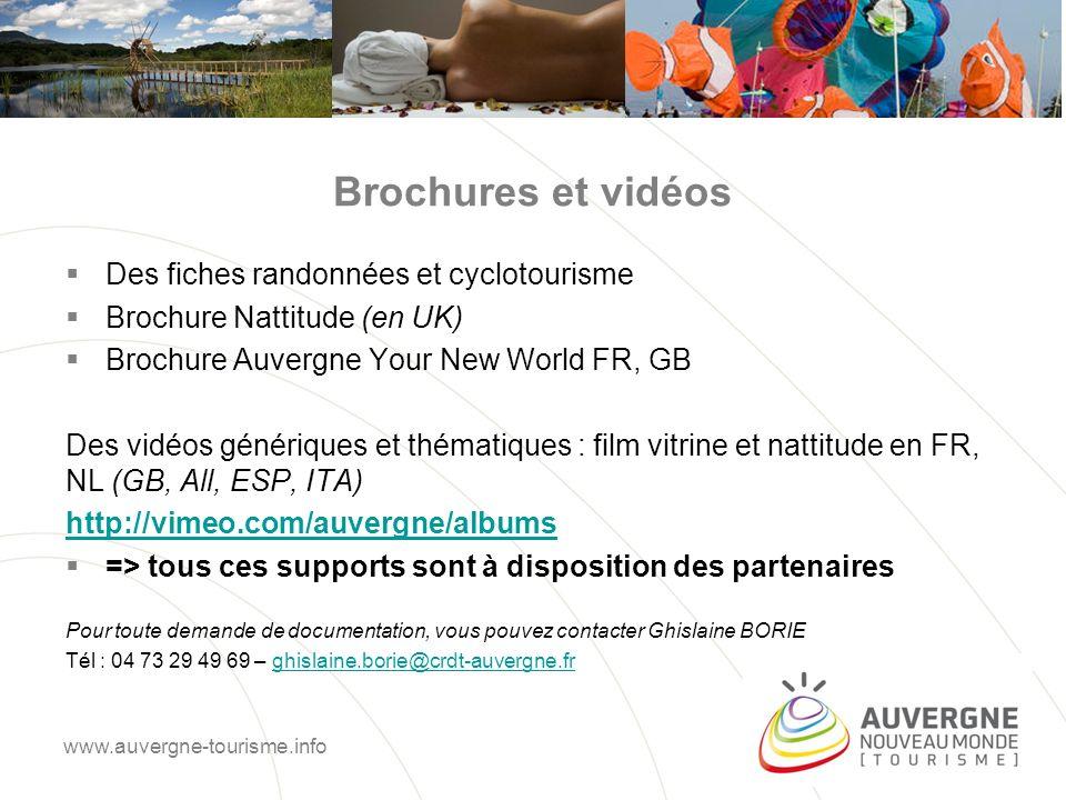 Brochures et vidéos Des fiches randonnées et cyclotourisme