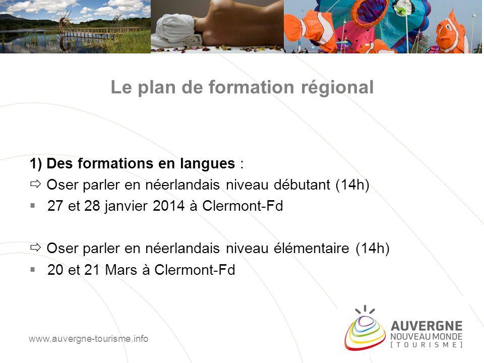 Le plan de formation régional