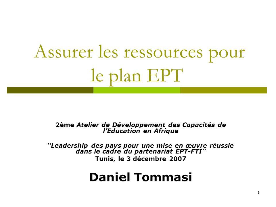 Assurer les ressources pour le plan EPT