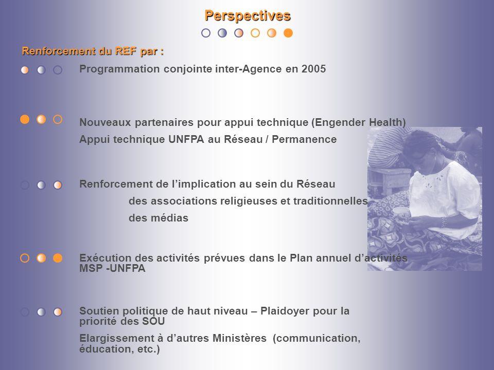 Perspectives Renforcement du REF par :