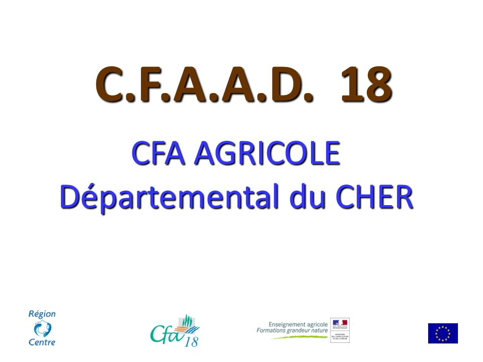 CFA AGRICOLE Départemental du CHER