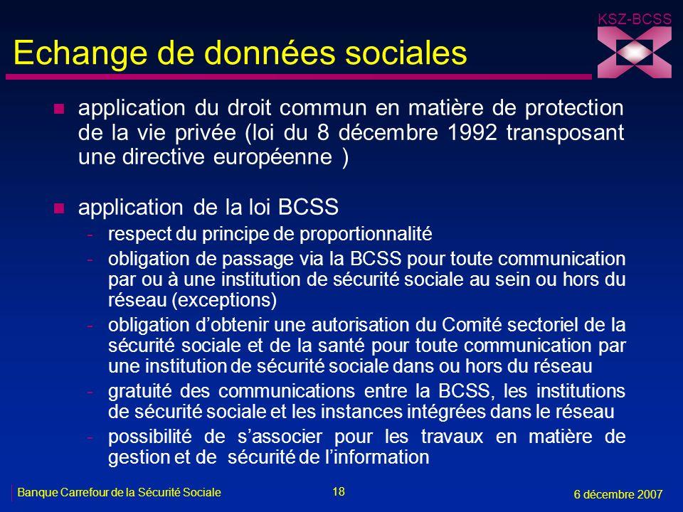 Echange de données sociales