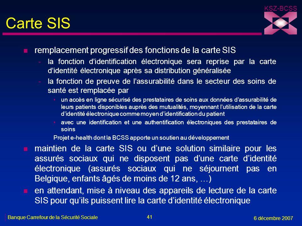 Carte SIS remplacement progressif des fonctions de la carte SIS