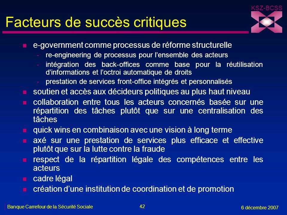 Facteurs de succès critiques