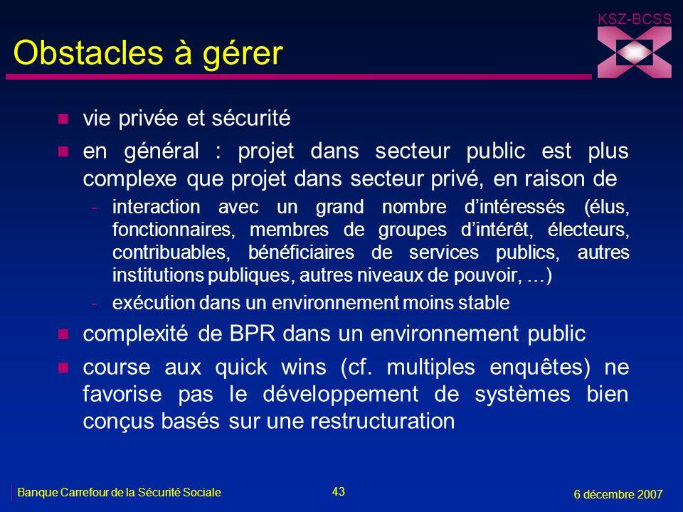 Obstacles à gérer vie privée et sécurité