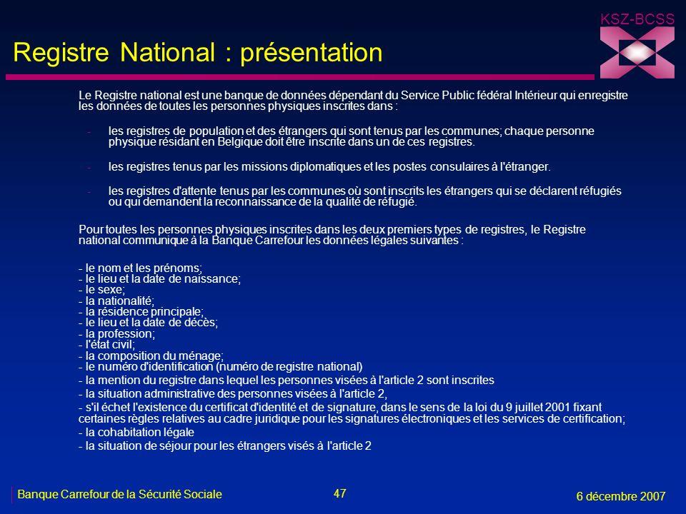 Registre National : présentation
