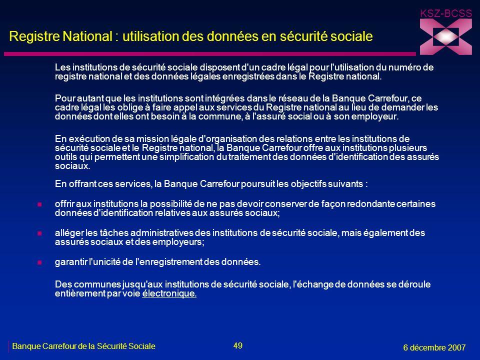 Registre National : utilisation des données en sécurité sociale