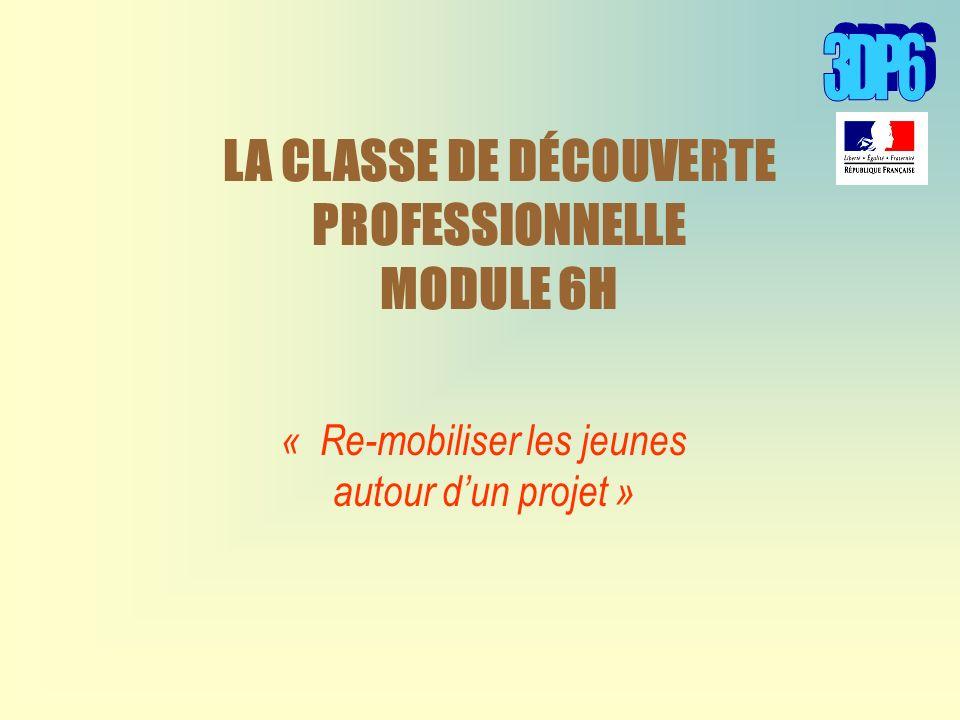 LA CLASSE DE DÉCOUVERTE PROFESSIONNELLE MODULE 6H