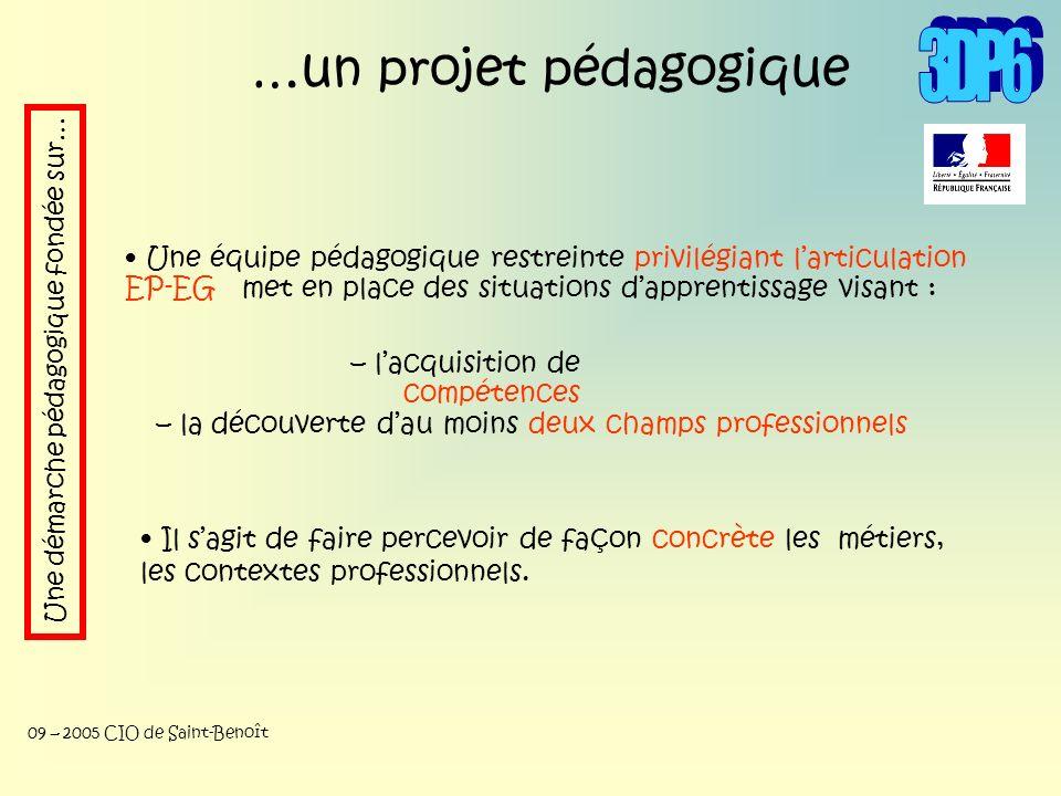 3DP6 …un projet pédagogique