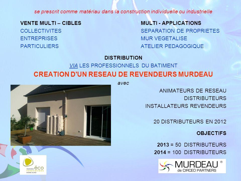 CREATION D UN RESEAU DE REVENDEURS MURDEAU