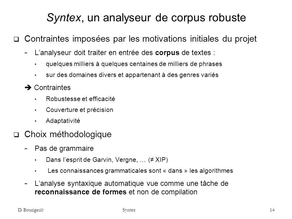 Syntex, un analyseur de corpus robuste