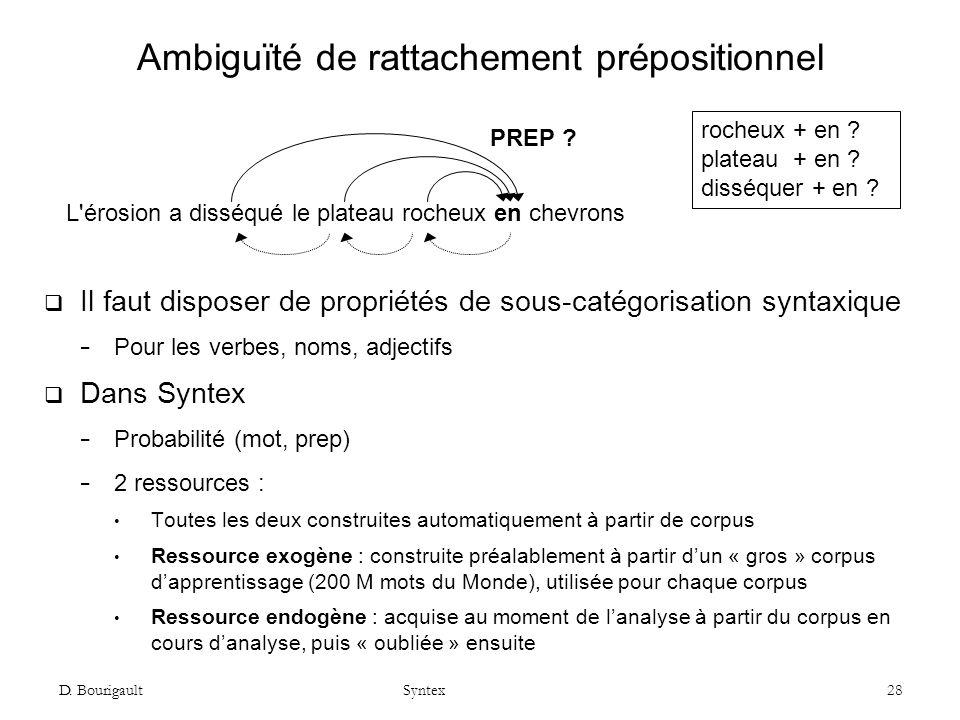 Ambiguïté de rattachement prépositionnel