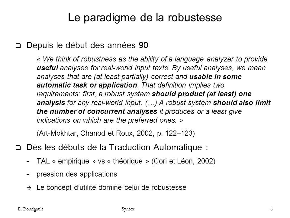 Le paradigme de la robustesse