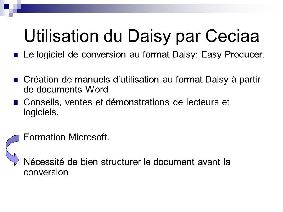Utilisation du Daisy par Ceciaa