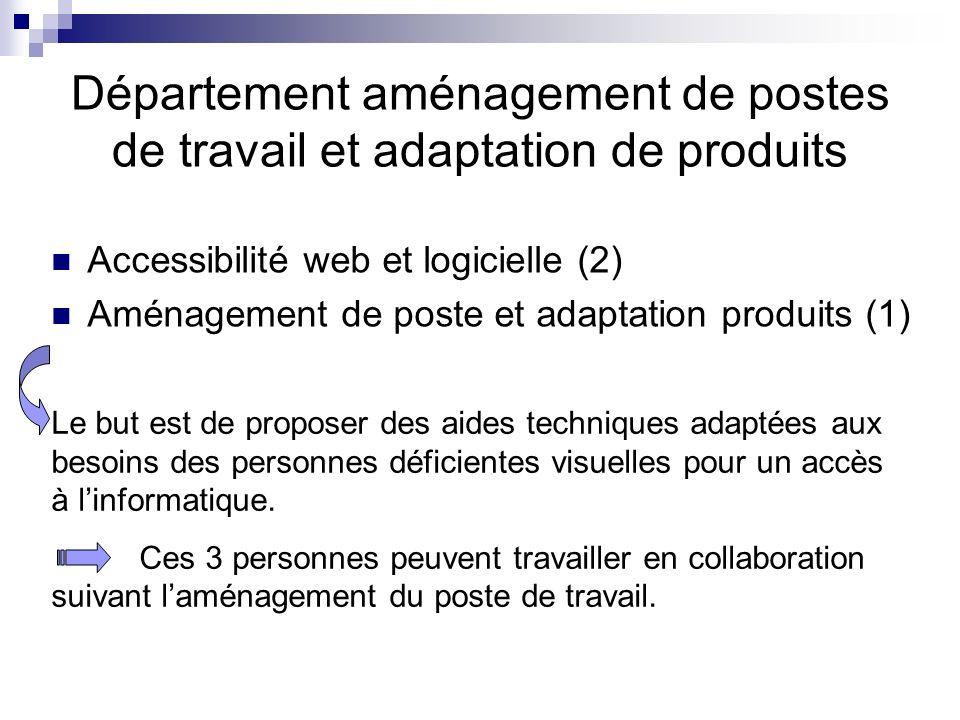 Département aménagement de postes de travail et adaptation de produits