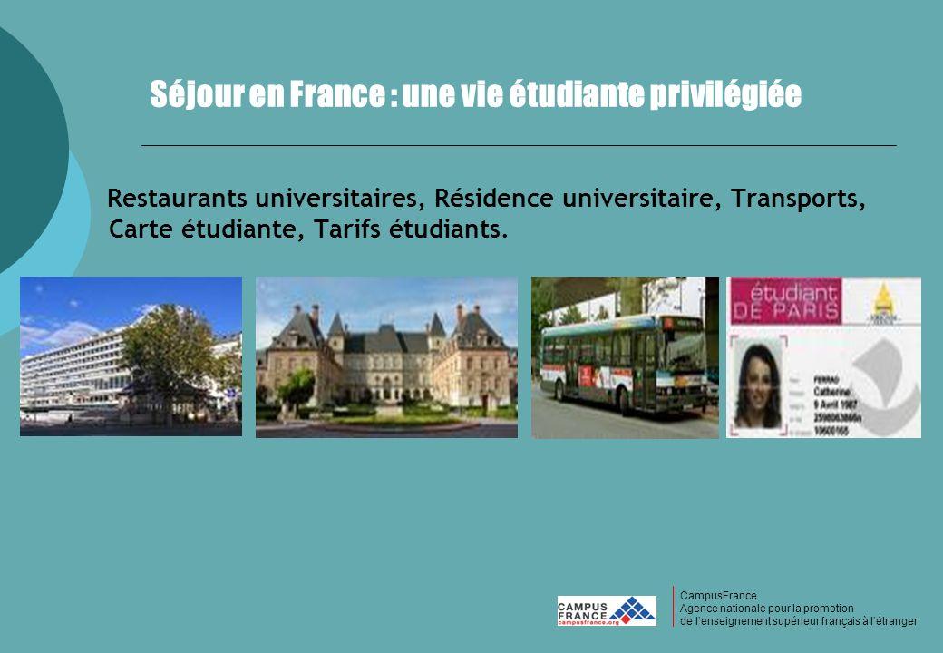 Séjour en France : une vie étudiante privilégiée