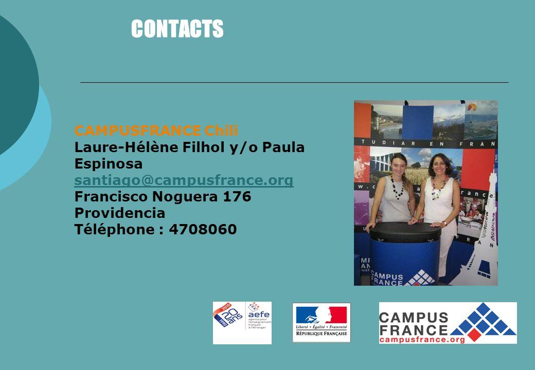 CONTACTS CAMPUSFRANCE Chili Laure-Hélène Filhol y/o Paula Espinosa