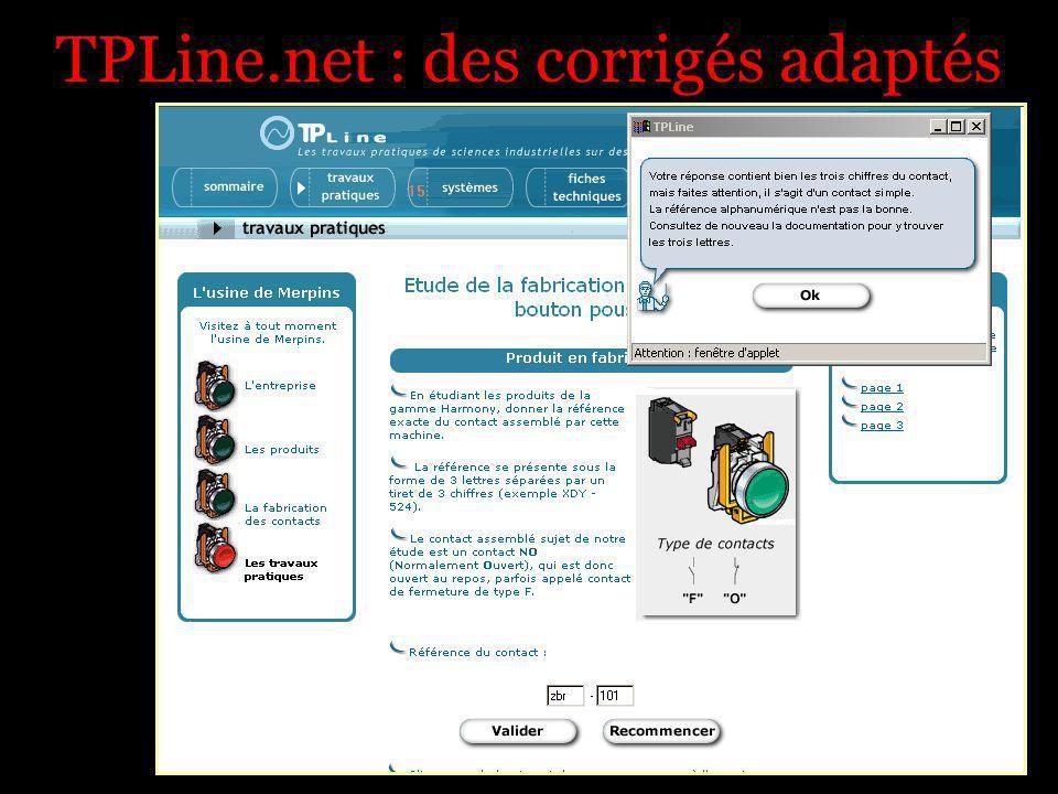 TPLine.net : des corrigés adaptés