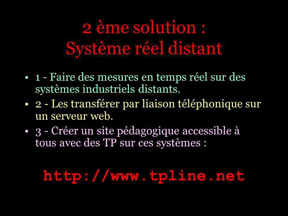 2 ème solution : Système réel distant