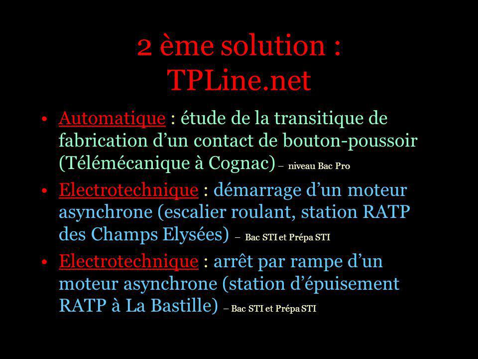 2 ème solution : TPLine.net