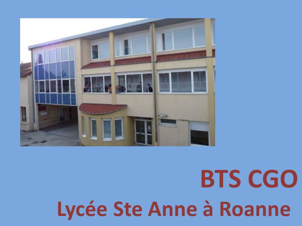 BTS CGO Lycée Ste Anne à Roanne