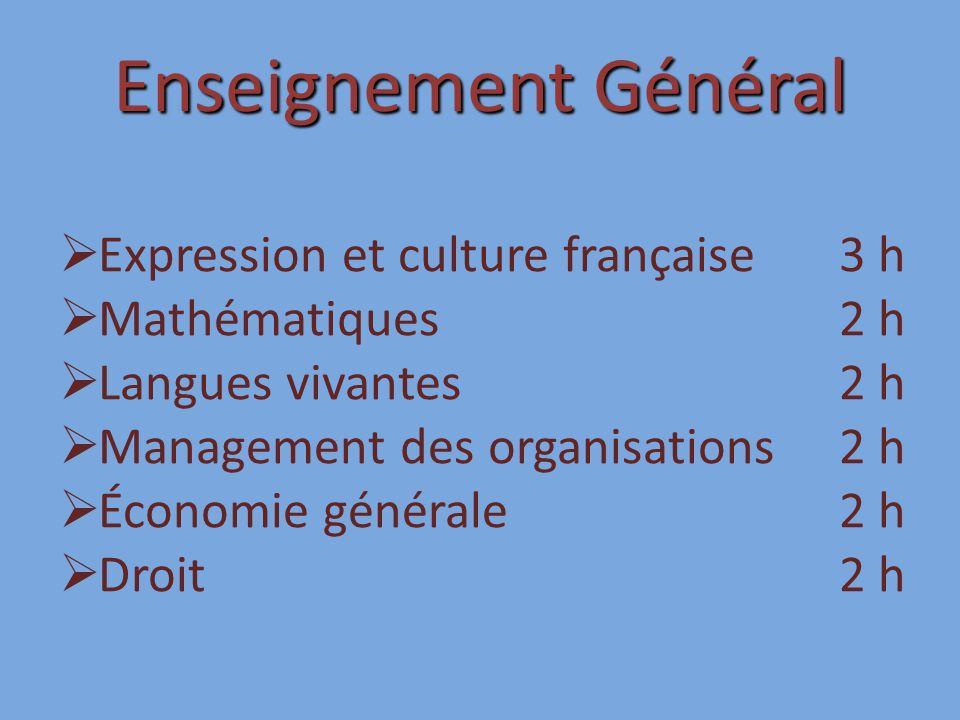 Enseignement Général Expression et culture française 3 h