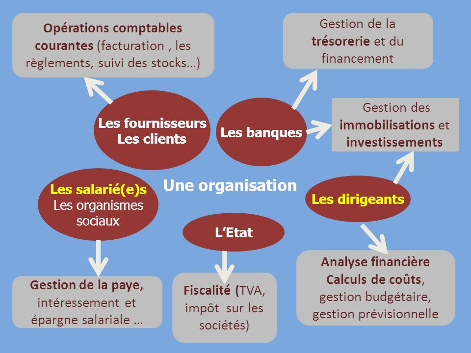 Une organisation Gestion de la trésorerie et du financement