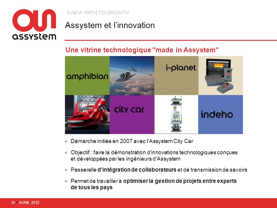 Assystem et l'innovation