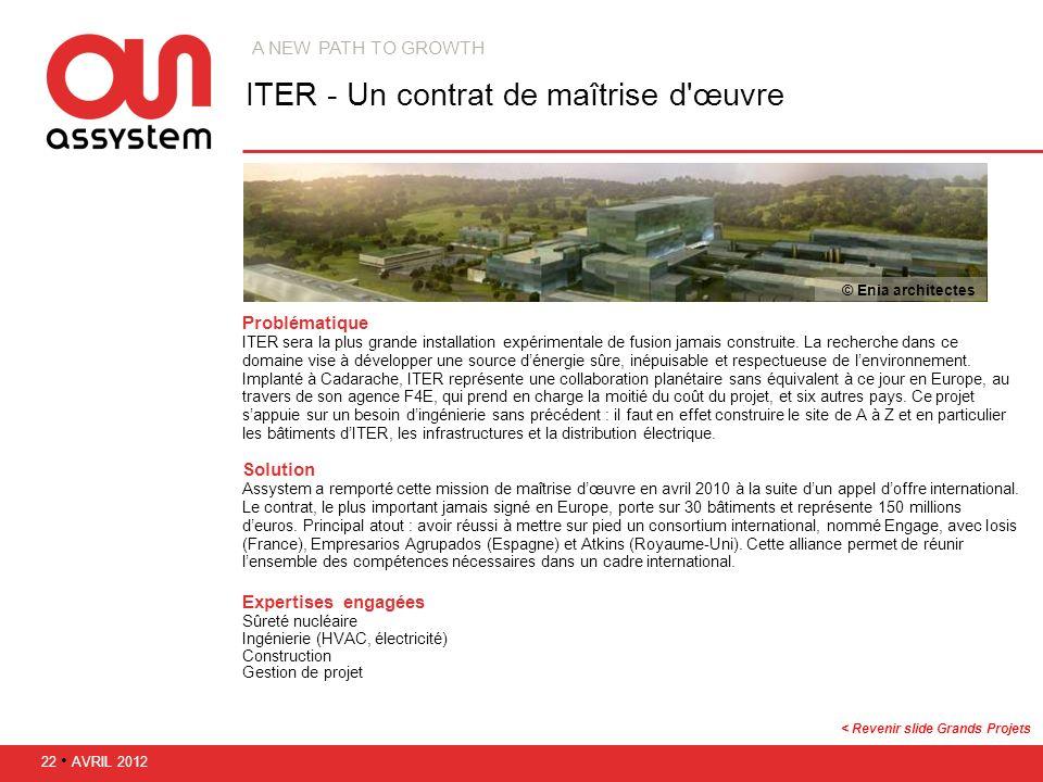 ITER - Un contrat de maîtrise d œuvre
