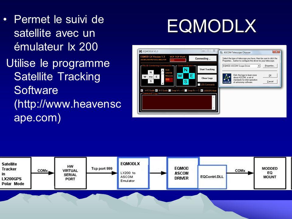 EQMODLX Permet le suivi de satellite avec un émulateur lx 200