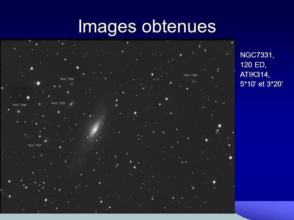 Images obtenues NGC7331, 120 ED, ATIK314, 5*10' et 3*20'