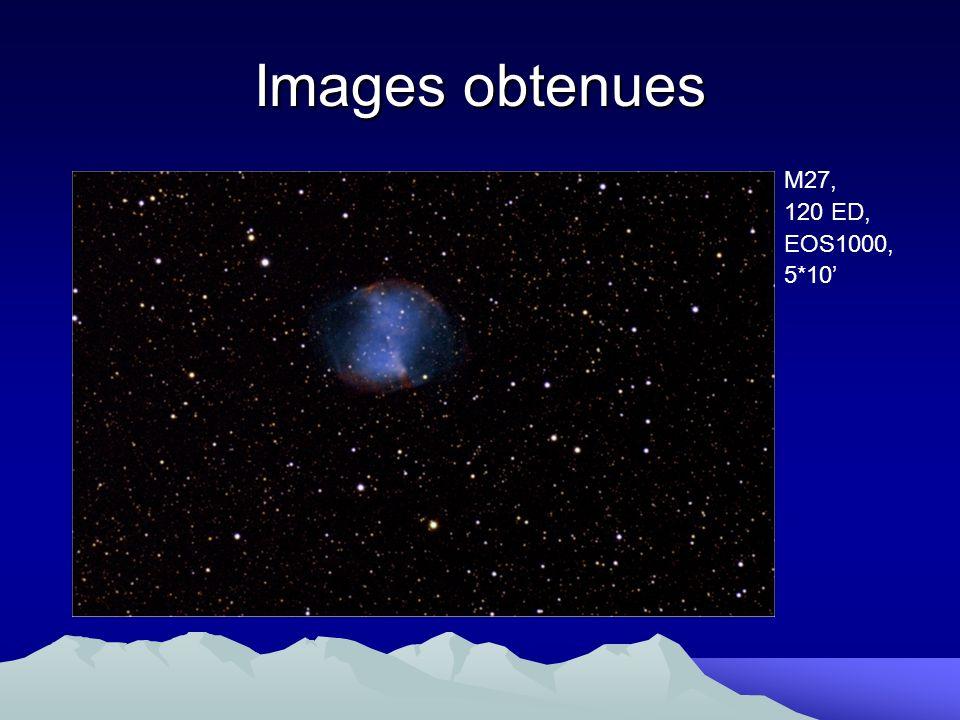Images obtenues M27, 120 ED, EOS1000, 5*10'