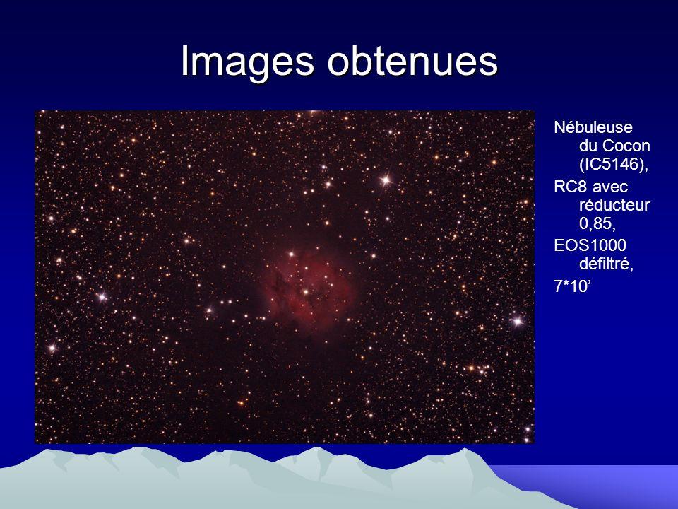 Images obtenues Nébuleuse du Cocon (IC5146), RC8 avec réducteur 0,85,