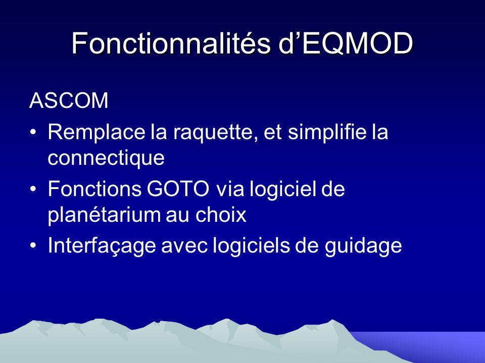 Fonctionnalités d'EQMOD