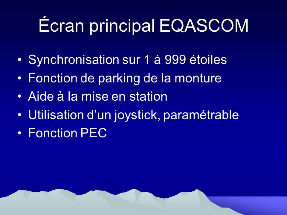 Écran principal EQASCOM